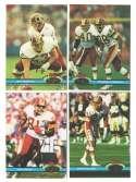 1991 Topps Stadium Club Football Team Set - WASHINGTON REDSKINS
