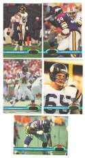 1991 Topps Stadium Club Football Team Set - MINNESOTA VIKINGS