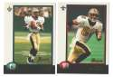 1998 Bowman Football Team Set - NEW ORLEANS SAINTS