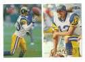 1998 Fleer Tradition Football Team Set - ST. LOUIS RAMS