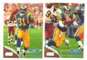 1998 Topps Stadium Club Football Team Set - ST. LOUIS RAMS