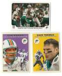 2000 Fleer Tradition Glossy Football Team Set - MIAMI DOLPHINS