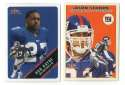 2000 Fleer Tradition Glossy Football Team Set - NEW YORK GIANTS
