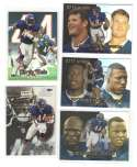 1999 Flair Showcase Football Team Set - CHICAGO BEARS