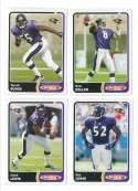 2003 Topps Total Football Team Set - BALTIMORE RAVENS