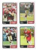 2003 Topps Total Football Team Set - SAN FRANCISCO 49ERS