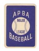 1962 APBA Season (Light Pencil 62 on some) - MILWAUKEE BRAVES Team Set