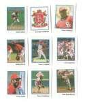 1990 Publications International Stickers - ST LOUIS CARDINALS Team Set