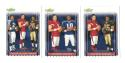 2006 Score Football Combo Cards Leinart, Young and Bush (3 cards)