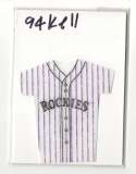 1994 Kelloggs Mini Jersey - COLORADO ROCKIES