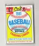 1981 COKE (Topps) - KANSAS CITY ROYALS Team Set