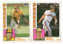 1984 TOPPS TRADED TIFFANY - SAN DIEGO PADRES Team Set