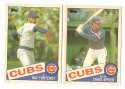 1985 Topps Traded TIFFANY - CHICAGO CUBS Team Set