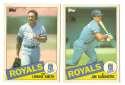 1985 Topps Traded TIFFANY - KANSAS CITY ROYALS Team Set