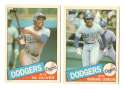 1985 Topps Traded TIFFANY - LOS ANGELES DODGERS Team Set