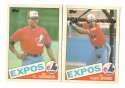 1985 Topps Traded TIFFANY - MONTREAL EXPOS Team Set