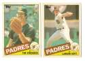 1985 Topps Traded TIFFANY - SAN DIEGO PADRES Team Set
