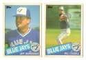 1985 Topps Traded TIFFANY - TORONTO BLUE JAYS Team Set