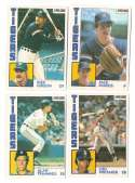 1984 O-Pee-Chee (OPC) - DETROIT TIGERS Team Set