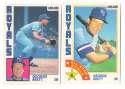 1984 O-Pee-Chee (OPC) - KANSAS CITY ROYALS Team Set