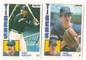 1984 O-Pee-Chee (OPC) DETROIT TIGERS Team Set missing #181 Whitaker All-Star
