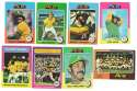 1975 Topps MINI B - OAKLAND ATHLETICS / A'S Near Team Set -1 EX+ Condition