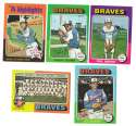 1975 Topps MINI B - ATLANTA BRAVES Team Set EX+ Condition