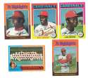1975 Topps MINI B - ST LOUIS CARDINALS Team Set EX+ Condition