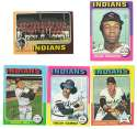 1975 Topps MINI B - CLEVELAND INDIANS Team Set EX+ Condition