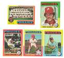 1975 Topps MINI B - PHILADELPHIA PHILLIES Team Set EX+ Condition