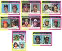 1975 Topps MINI B - League Leaders 8 card subset EX conditon