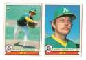 1979 O-Pee-Chee (OPC) - OAKLAND ATHLETICS / A'S Team Set