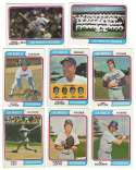 1974 Topps C VG+ condition LOS ANGELES DODGERS Team Set