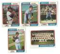 1974 Topps C VG+ condition MINNESOTA TWINS Team Set