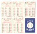 1962 APBA (Reprint) Season - ST LOUIS CARDINALS Team Set