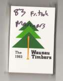 1983 Fritsch Minor League Team Set - Wausau Timbers (Mariners)