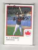 1986 ProCards Minor League Team Set - Vancouver Canadians (Brewers)