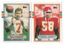 1989 Topps Traded Football Team Set - KANSAS CITY CHIEFS