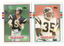 1989 Topps Traded Football Team Set - SAN DIEGO CHARGERS