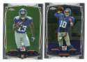 2014 Topps Chrome Football Team Set - NEW YORK GIANTS