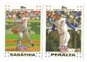 2007 Topps Opening Day - CLEVELAND INDIANS Team Set