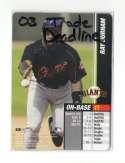 2003 MLB Showdown Trading Deadline - SAN FRANCISCO GIANTS Team Set