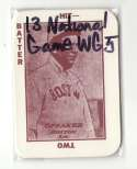 1913 National Game WG5 Reprints - BOSTON RED SOX Team Set