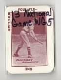 1913 National Game WG5 Reprints - BROOKLYN DODGERS Team Set