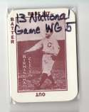 1913 National Game WG5 Reprints - CLEVELAND INDIANS Team Set