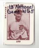 1913 National Game WG5 Reprints - DETROIT TIGERS Team Set