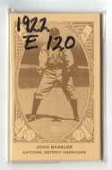 1922 American Caramel E120 Reprints - DETROIT TIGERS Team Set