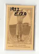 1922 American Caramel E120 Reprints - WASHINGTON SENATORS Team Set