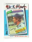 1982 K-Mart 20th Anniversary KANSAS CITY ROYALS Team Set