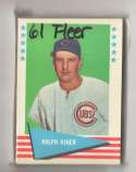 1961 Fleer - CHICAGO CUBS Team Set EX Condition